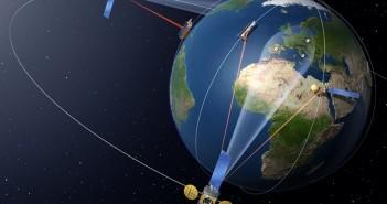 Działanie EDRS - wizualizacja / Credits: ESA