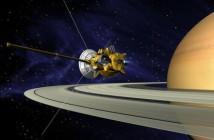 Wizualizacja sondy Cassini w systemie Saturna / Credit: NASA, JPL, JHUAPL