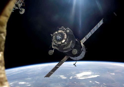 Rosyjski statek transportowy Progress / Credits: NASA
