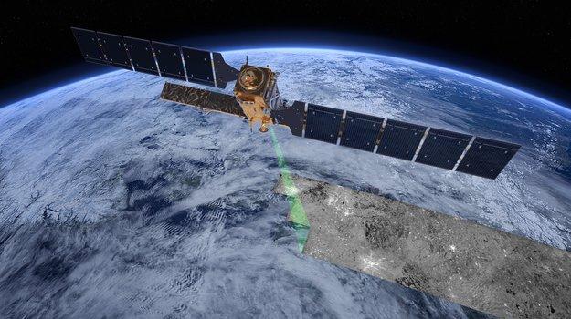 Wizualizacja działania satelity Sentinel-1A / Credits - ESA