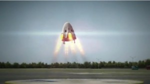 Dragon V2 ląduje / Credits - SpaceX