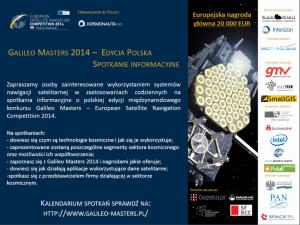 Plakat konkursu Galileo Master 2014 / Credits: Kosmonauta.net