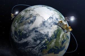 Satelity MetOp Second Generation - wizualizacja / Credits: ESA–P. Carril