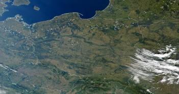 Polska z kosmosu - zdjęcie z 30 września 2000 / Credits - NASA