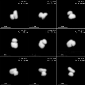 67P w obiektywie Rosetty / Credit: ESA / Rosetta / MPS for OSIRIS Team MPS / UPD / LAM / IAA / SSO / INTA / UPM / DASP / IDA
