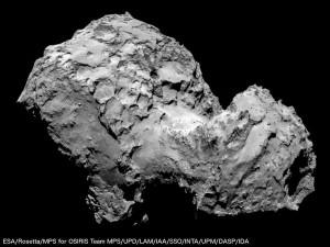 Obraz komety 67P / Credits - ESA/MPS/Rosetta