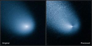 Kometa C/2013 A1 sfotografowana przez HST, 11 marca 2014 / Credit: NASA