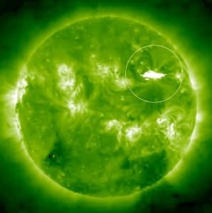 Jeden z rozbłysków klasy X z 1 września 2014 / Credits - NASA, STEREO