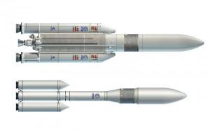 Ariane 5 ME i Ariane 6 - konkurencyjne projekty przyszłej europejskiej rakiety nośnej / Credit: ESA, Airbus
