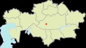 Położenie miasta Żezkazgan na mapie Kazachstanu