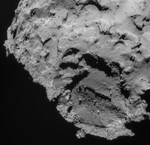 Zbliżenie obszaru J wykonane kamerą NAVCAM z wysokości 27,8 km