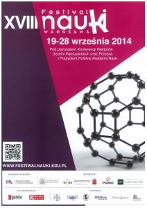 Plakat 18. warszawskiego Festiwalu Nauki