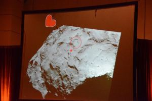 """Rosetta wyląduje niedaleko tego """"serduszka"""" / Credits - Krzysztof Kanawka, kosmonauta.net"""
