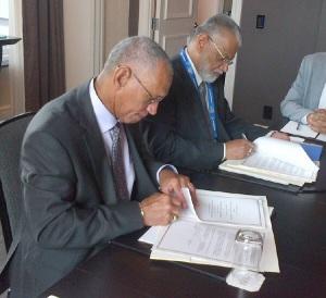 Podpisanie umów o współpracy między NASA i ISRO, 30 września 2014