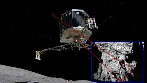 Phiale on 67P comet /  Credits - user Spacepoint z forum unmannedspaceflight