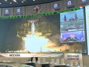 Centrum kontroli Roskosmos podczas startu pierwszej Angary A5, 23 grudnia 2014