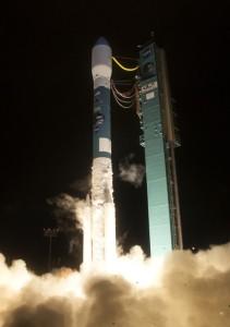 Start rakiety Delta II 31 stycznia 2015 roku / Credits: ULA