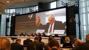 Przemowa otwierająca konferencję EU Space Policy 2015 w wykonaniu Jerzego Buzka