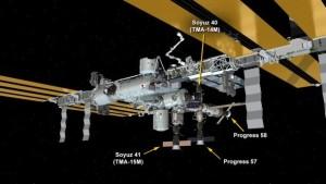 Lokalizacja statku Progress 58P w układzie portów stacji ISS / Credits: NASA