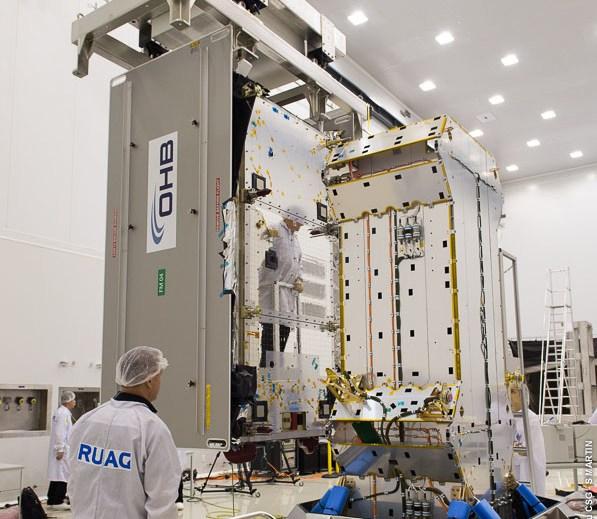 Test dopasowania 6. i 7. satelity Galileo do wyrzutnika