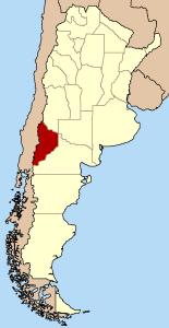 Prowincja Neuquén na mapie Argentyny