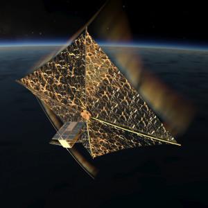 PW-Sat 2 z rozłożonym żaglem / Credits: Studenckie Koło Astronautycznre