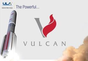Vulcan - nowa rakieta ULA - i jej logo / Credit: ULA