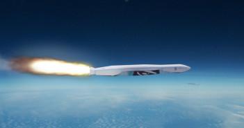 Wizualizacja startującej rakiety LauncherOne / Credits - Virgin Galactic