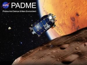 Jedną z misji w kierunku księżyców marsjańskich byłaby PADME, zbudowana na podstawie projektu platformy sondy księżycowej LADEE. PADME dokonałaby kilkunastu przelotów nad Fobosem i Deimosem, a potem wyszłaby z systemu Marsa i udałaby się w kierunku asteroidy. Źródło: NASA/Ames Research Center