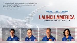 Grafika związana z selekcją czwórki astronautów NASA / Credits - NASA