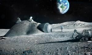 Jedna z wizji księżycowej bazy załogowej / Credits - ESA