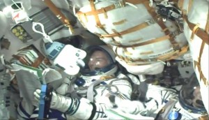 Podczas startu Sojuza TMA-17M pojawił się również akcent z Gwiezdnych Wojen / Credits: NASA TV