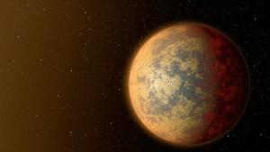 Możliwy wygląd HD219134 b - jałowy glob, być może częściowo stopiony, z wulkanami / Credits - NASA,  JPL, Caltech