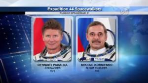 Rosyjscy kosmonauci, którzy wykonali 10 sierpnia spacer kosmiczny / Credits - NASA TV