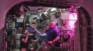 Konsumpcja liści sałaty / Credits - NASA TV