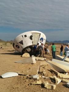 Zdjęcie kapsuły po lądowaniu - widoczne uszkodzenia / Credits - NASA