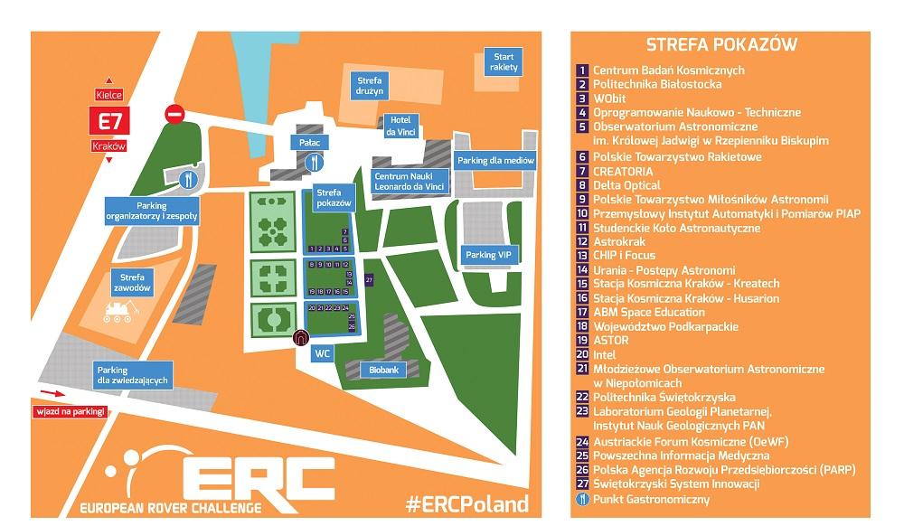 Mapa ERC 2015 / Credits: www.roverchallenge.eu