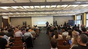 Etap finałowych prezentacji podczas Startup Weekend Space Bremen w kwietniu 2015 roku / Credits: Agata Kukwa