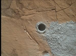 """Odwiert """"Buckskin"""", wykonany w regionie Marias Pass / Credits - NASA/JPL-Caltech/MSSS"""