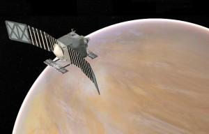 Grafika misji VERITAS / Credits - NASA/JPL-Caltech