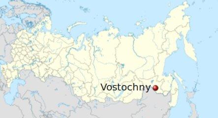 Lokalizacja kosmodromu Wostoczny / Credits - Wikipedia