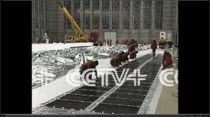 Prace przygotowawcze do startu w hangarze dla Yuanmeng / Credits - CCTV
