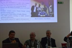 Dr Krzysztof Kanawka z Blue Dot Solutions przedstawia wyniki projektu SpaceForMed w Marsylii / Credits: Michał Moroz