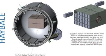 Proponowany system uwalniania satelitów ze śluzy / Credtis - Nanoracks