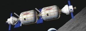 Habitat Bigelow Aeropsace składający się z dwóch elastycznych modułów B330 (Credits: Bigelow Aerospace LLC)
