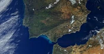 Półwysep Iberyjski i północna Afryka okiem Sentinela-3A (01.03.2016) / Credits - Copernicus data (2016)